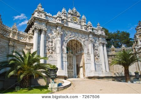 Gate At Dolma Bahche Palace