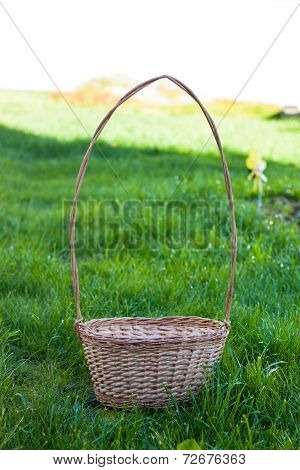Empty Basket On The Grass