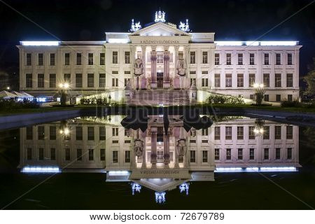 Mora Ferenc Museum At Night In Szeged