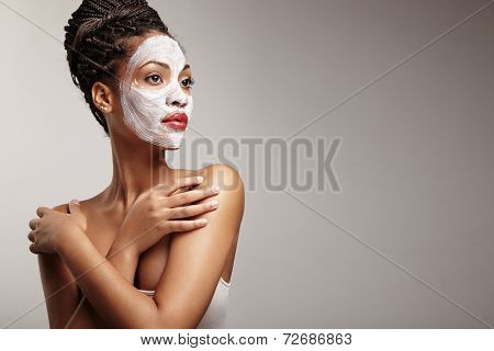 Beauty Woman With A Facial Mask