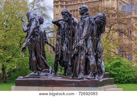 Burghers Of Calais, London, Uk