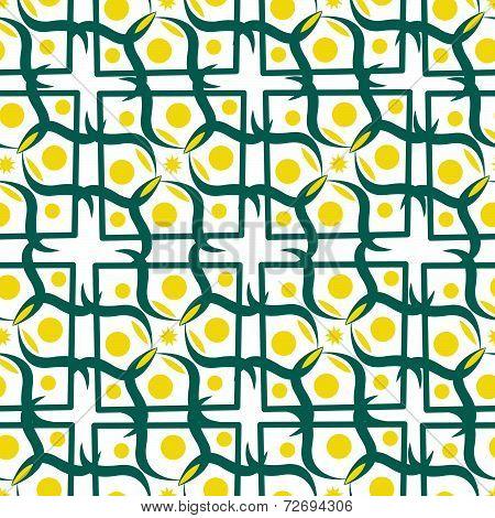 Seamless Pattern With Yellow Circle