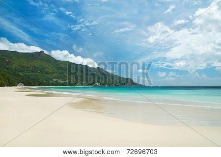 Tropical Beach Beau Vallon At Island Mahe, Seychelles