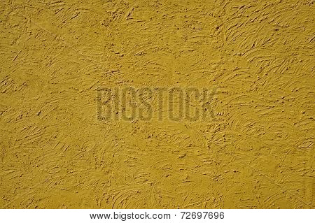 The Texture Of Mustard Color Walls Painted Large Erratic Strokes Of Pain