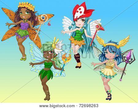 Cute Fantasy Pixie Girls