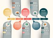 Vector abstract timeline infographic design. Workflow layout template poster