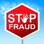 Stop Fraud Indicating Rip Off And Deceit poster