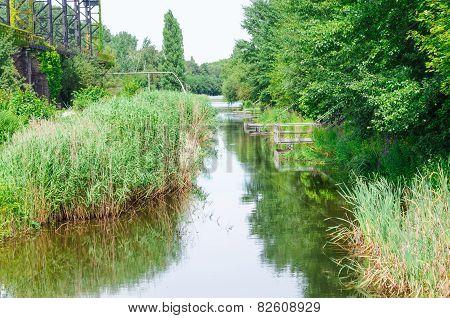 Creek, Channel In The Landscape Park Duisburg