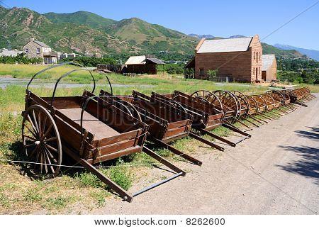 Mormon Settler Hand Carts