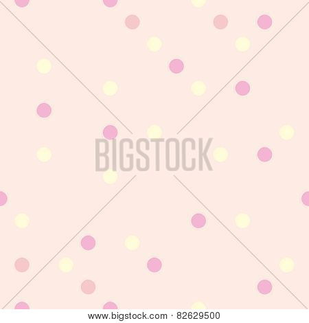 Colorful vector background with tile polka dots