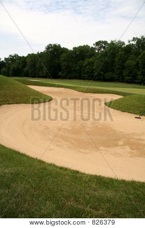 Golf Hole with Sand Trap