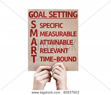 Goal Setting - SMART card isolated on white background