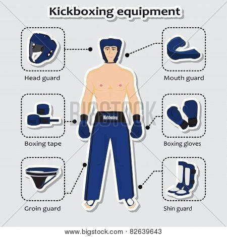 Sport equipment for kickboxing martial arts
