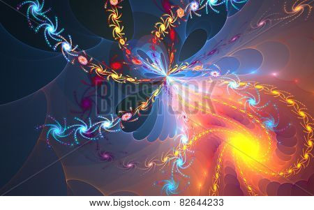 Micro space. fractal background
