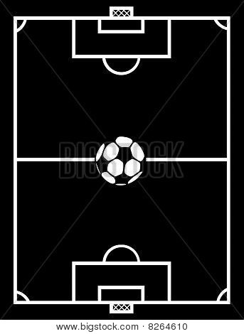 soccer field black