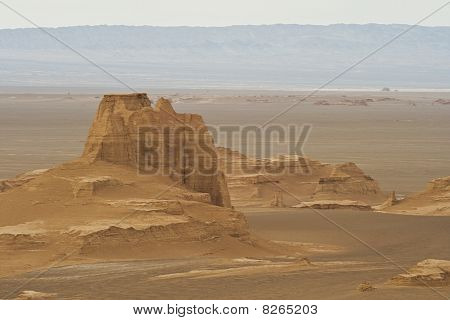 Desert country in South Iran