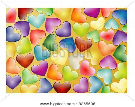Multi-coloured Hearts