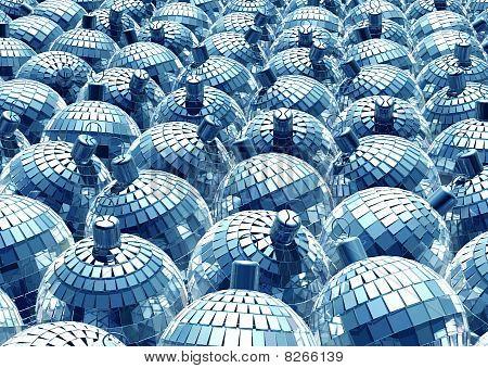 blue xmas mirror balls