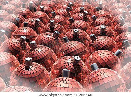 xmas red spheres