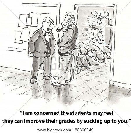 Students Deify Teacher