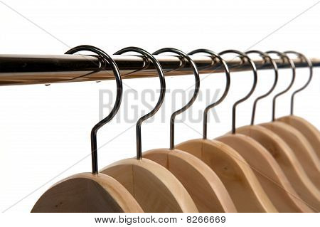 Clothes Hangers On A Isolated Background