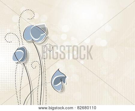 Soft vintage flowers - retro floral background