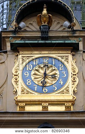 GRAZ, AUSTRIA - JANUARY 10, 2015: Glockenspiel clock in Graz, Styria, Austria on January 10, 2015.