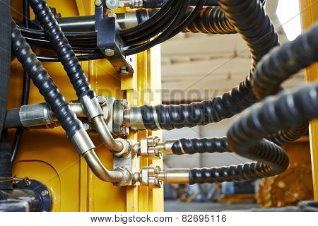 Hydraulic pressure pipes system of construction machinery