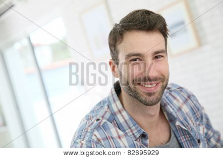 Portrait of cheerful 30-year-old man