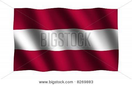 Austria 3D Flag