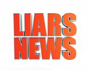 liars news fake a on white background poster