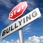 stop bullying prevention for no bullies at school work or in the cyber internet poster