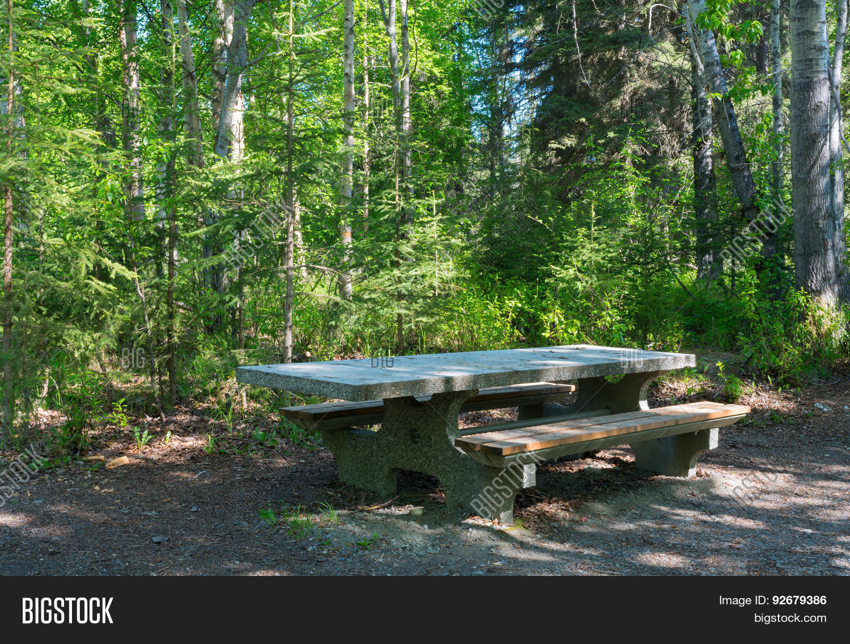 Stone Picnic Table Image Photo Free Trial Bigstock - Stone picnic table