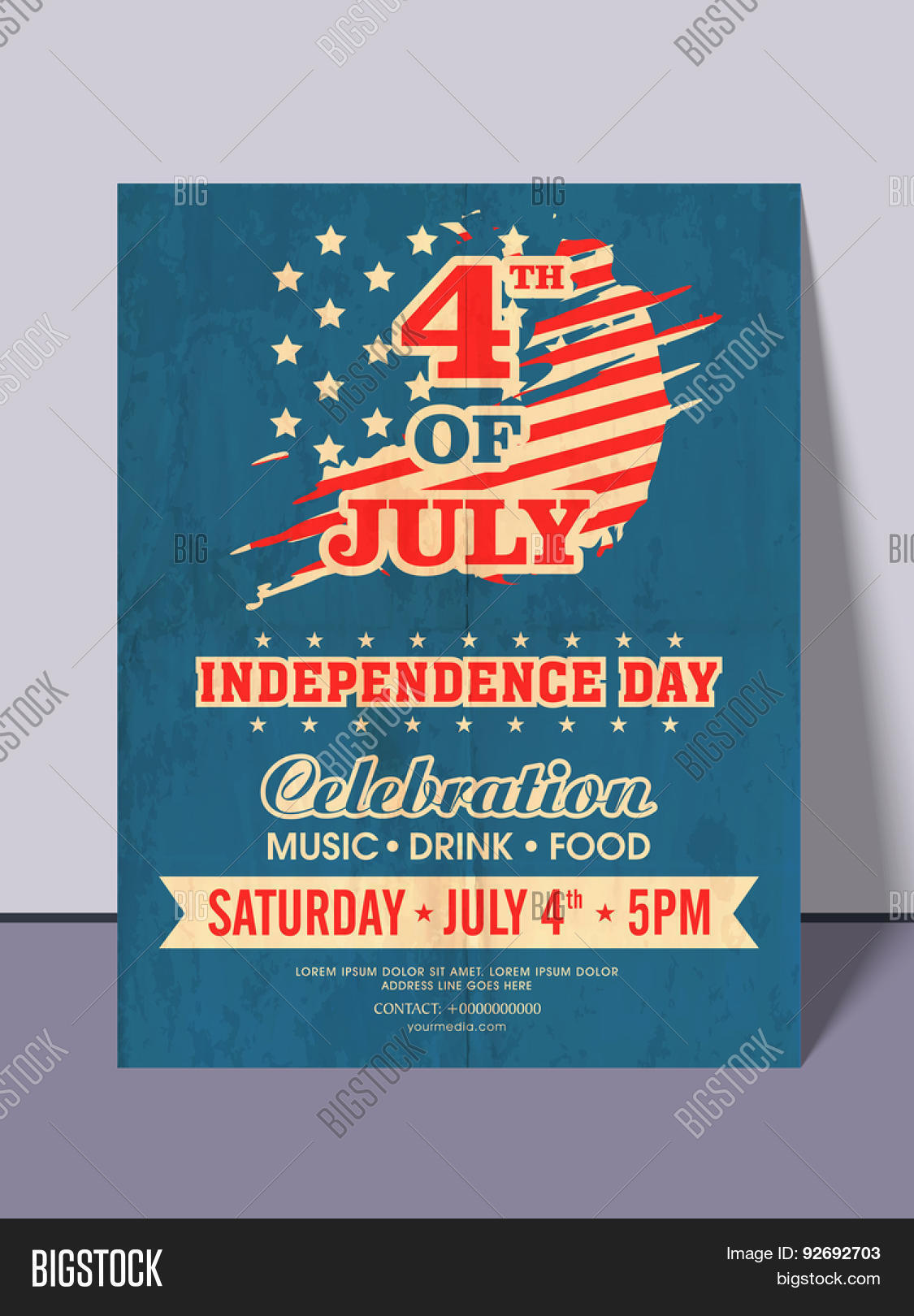 4th July American Vector Photo Free Trial Bigstock
