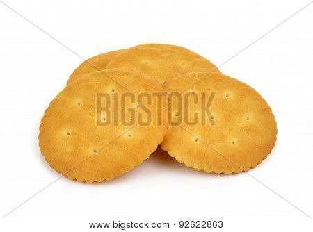 Cracker Isolated On A Over White Background