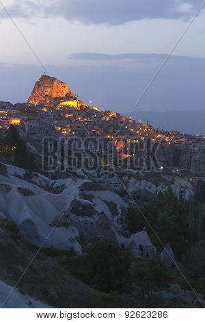 Uchisar In Cappadocia, Turkey