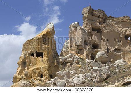 Cavusin Old House In Cappadocia, Turkey
