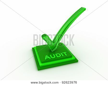 Check  mark icon on rectangles with AUDIT word