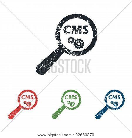 CMS search grunge icon set
