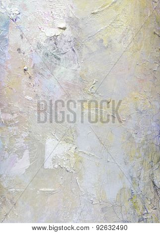 Abstract Khaki Tones On Canvas