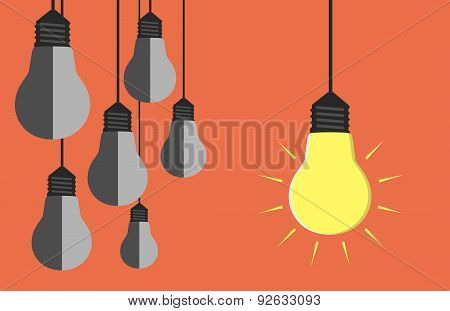 Many Light Bulbs Hanging