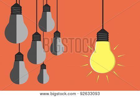 Many Light Bulbs Hanging