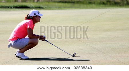 Karine Icher At The Ana Inspiration Golf Tournament 2015