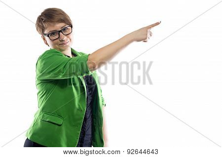 Image of pudgy puzzled business woman