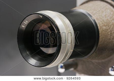 Projector Lens Close Up