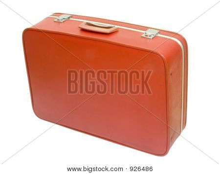 Old Red Suitcase