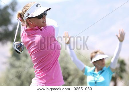 Morgan Pressel At The Ana Inspiration Golf Tournament 2015