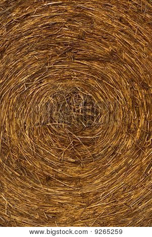 A Closeup Of A Hay Bale