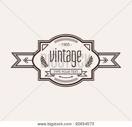 Abstract vector logo elements for vintage design