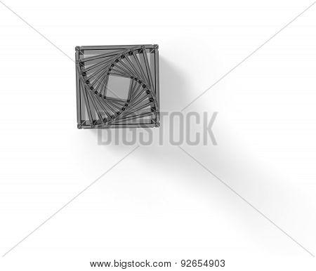 Glass Cube Pyramid